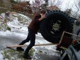 Niedliche handliche Reifen