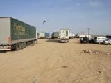 Grenze Kasachstan-Uzbekistan: LKW
