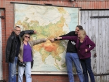 vor der Landkarte