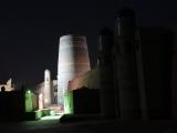 Usbekistan Chiwa: Minarett Kalta Minor bei Nacht